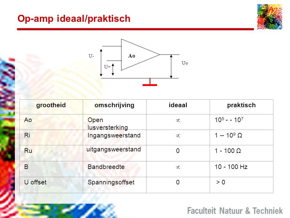 Op-amp ideaal/praktisch