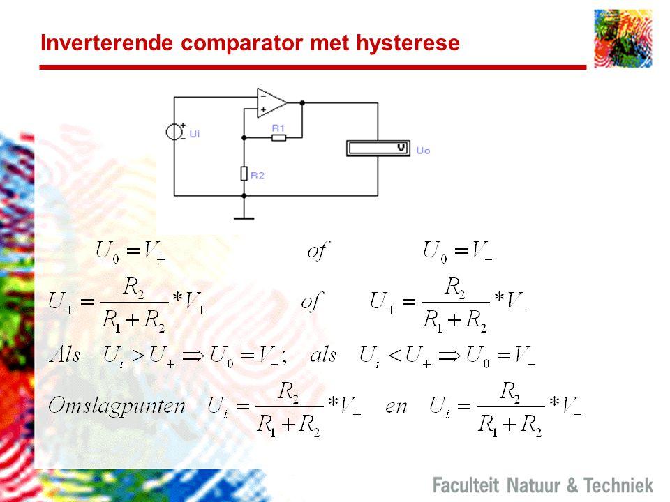 Inverterende comparator met hysterese