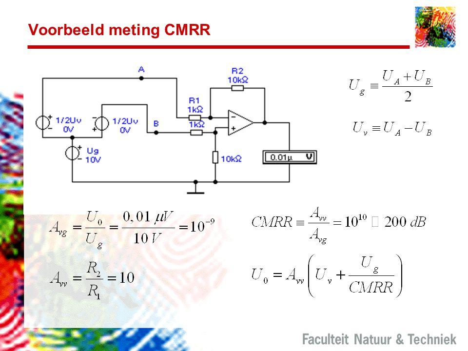 Voorbeeld meting CMRR Zie ook het Sensorenboek pag. 24.