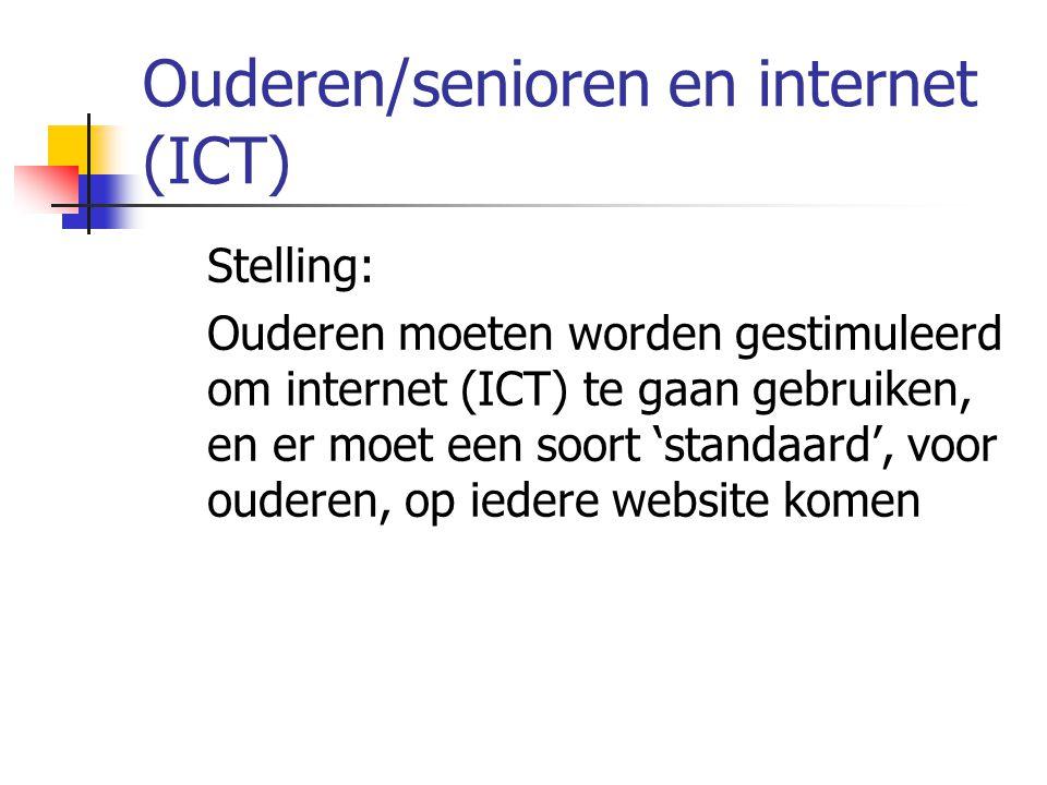 Ouderen/senioren en internet (ICT)