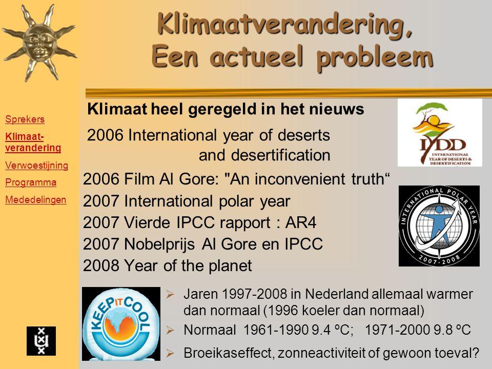 Klimaatverandering, Een actueel probleem
