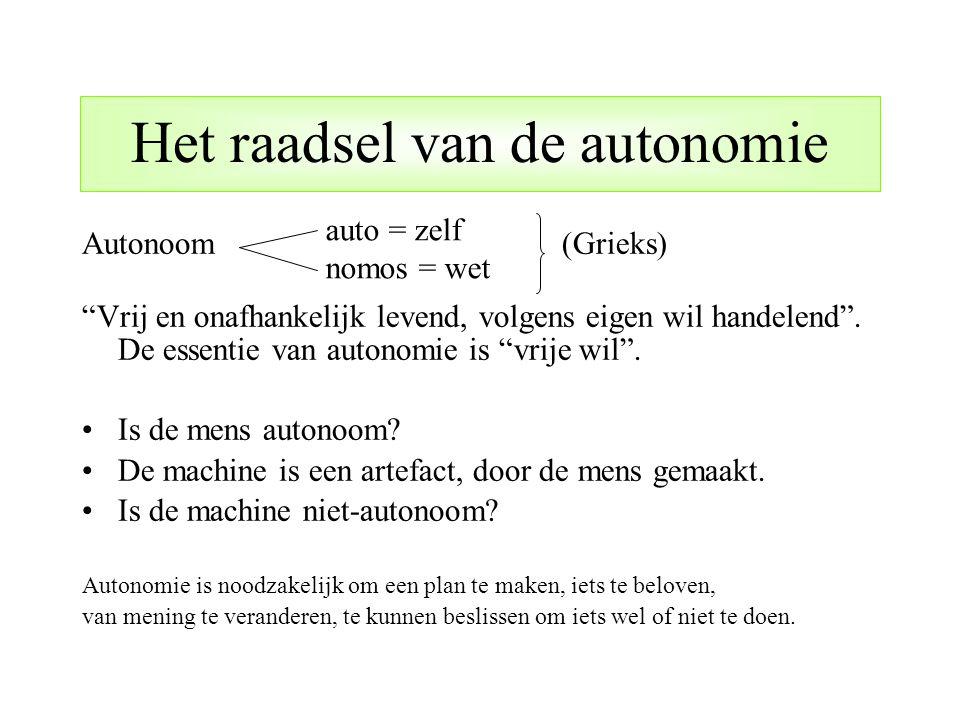 Het raadsel van de autonomie