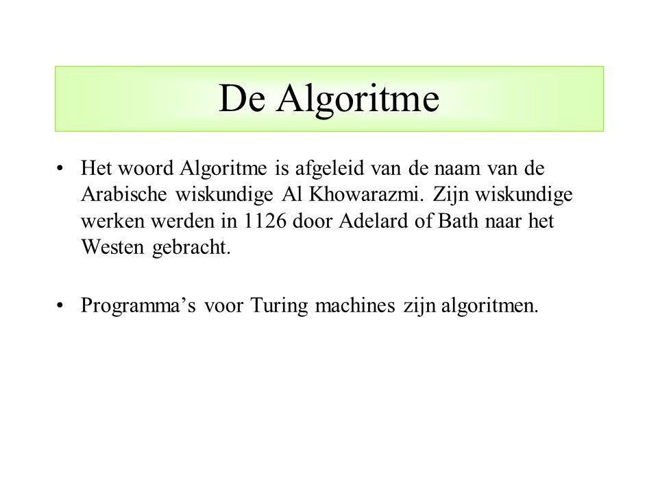 De Algoritme
