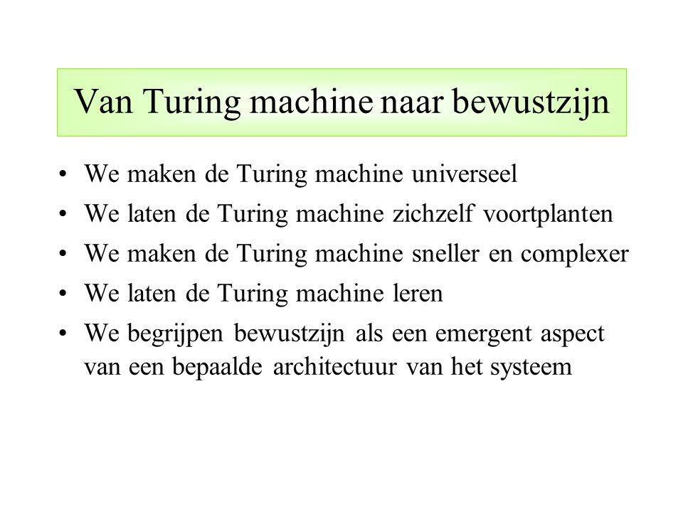 Van Turing machine naar bewustzijn