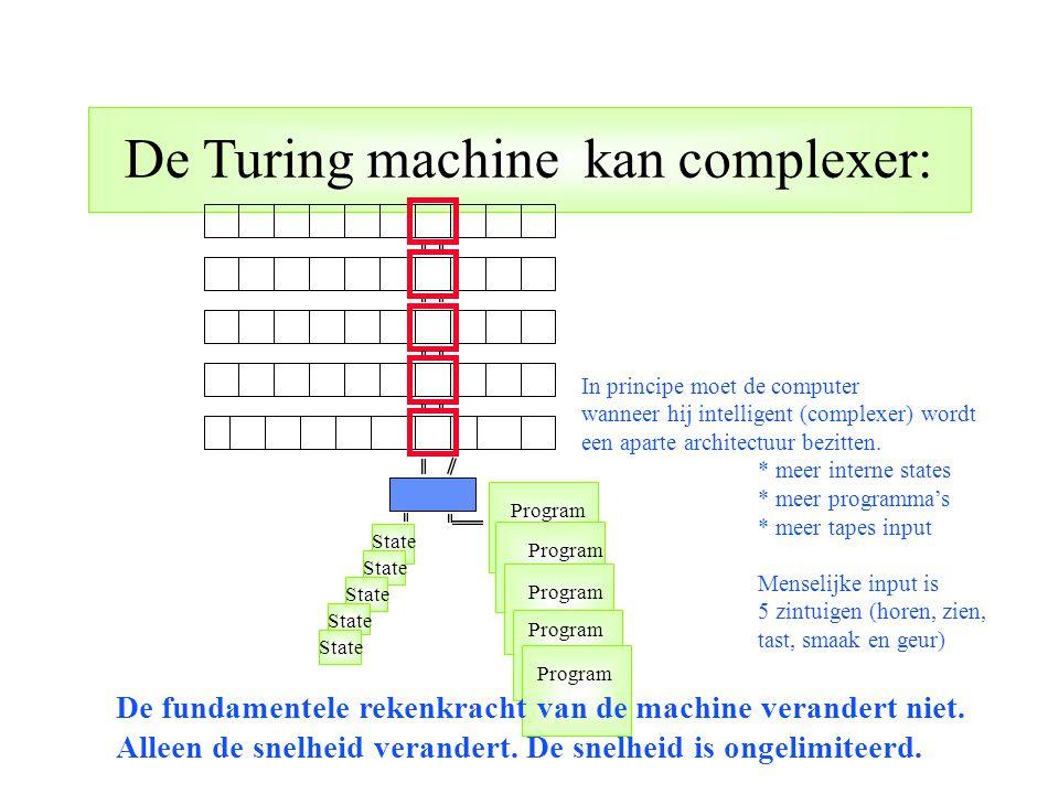 De Turing machine kan complexer: