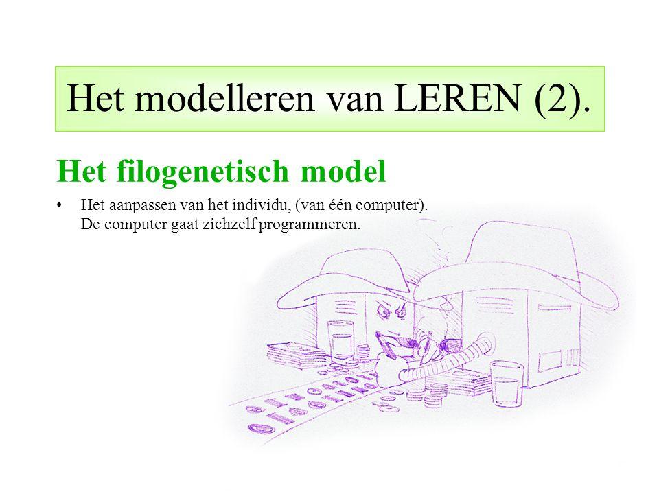 Het modelleren van LEREN (2).