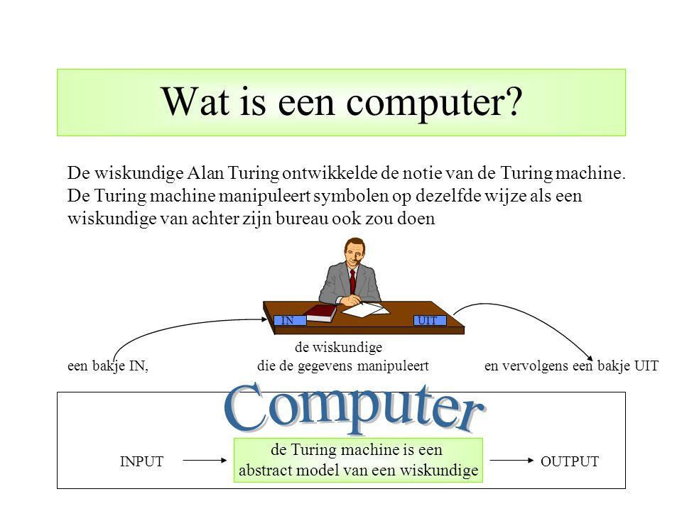 Wat is een computer Computer