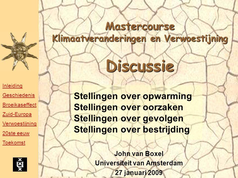 Mastercourse Klimaatveranderingen en Verwoestijning Discussie