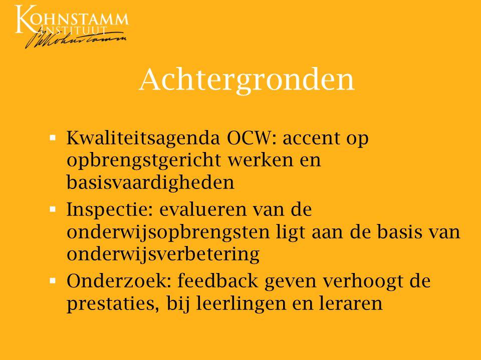 Achtergronden Kwaliteitsagenda OCW: accent op opbrengstgericht werken en basisvaardigheden.