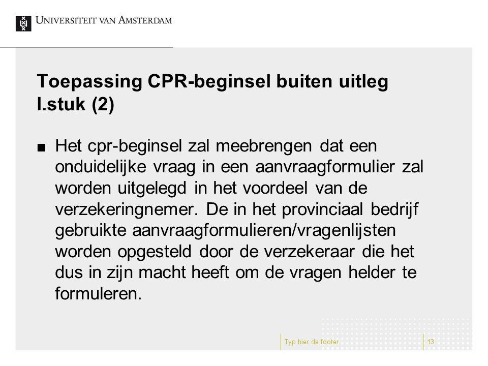 Toepassing CPR-beginsel buiten uitleg l.stuk (2)