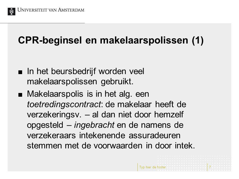CPR-beginsel en makelaarspolissen (1)