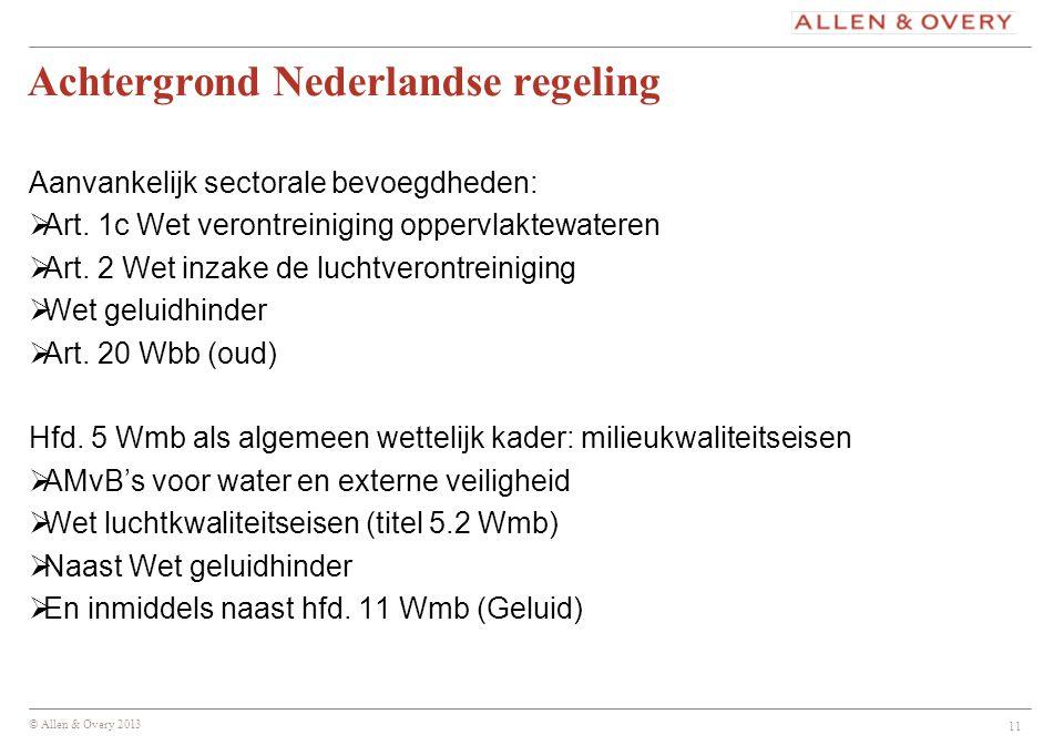 Achtergrond Nederlandse regeling