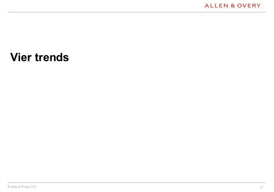 Vier trends