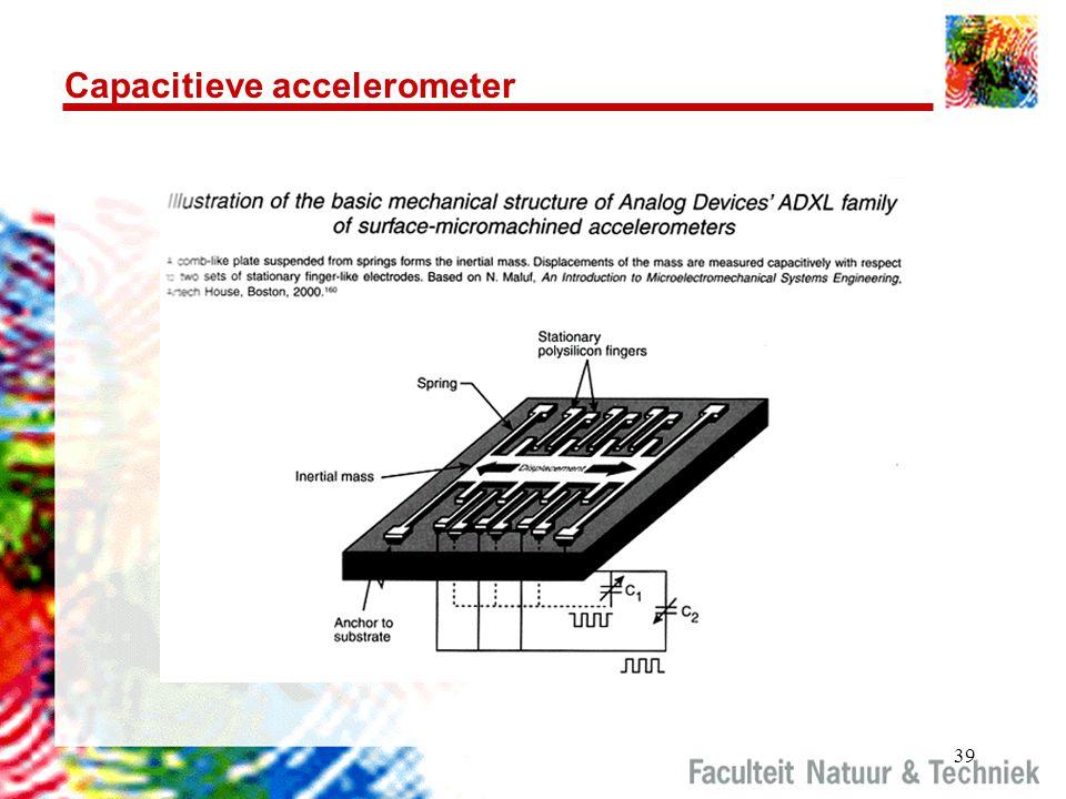 Capacitieve accelerometer