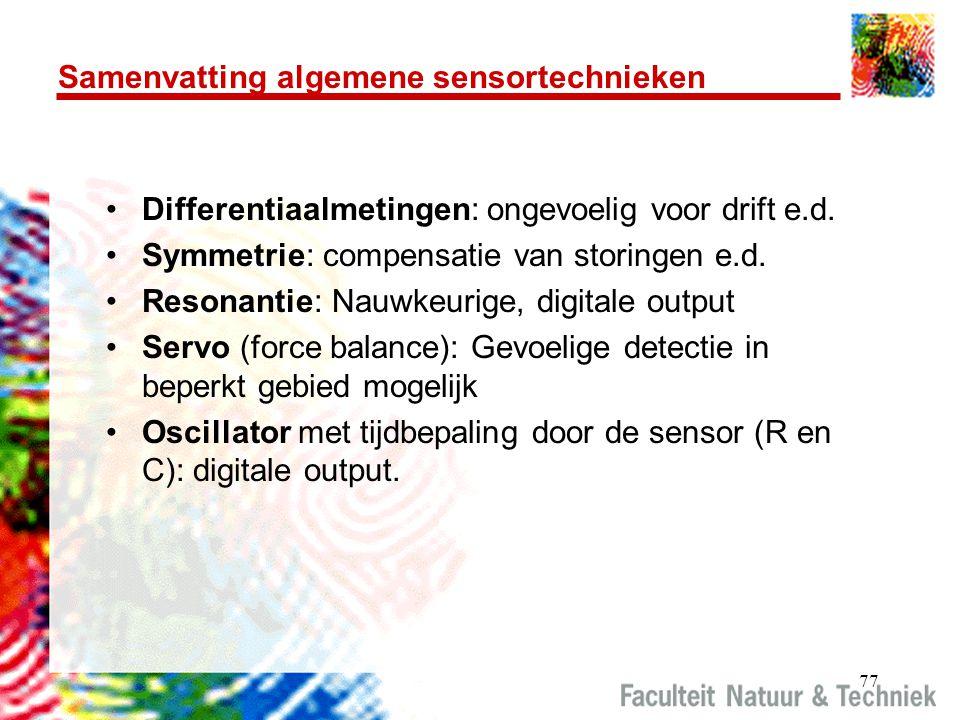 Samenvatting algemene sensortechnieken