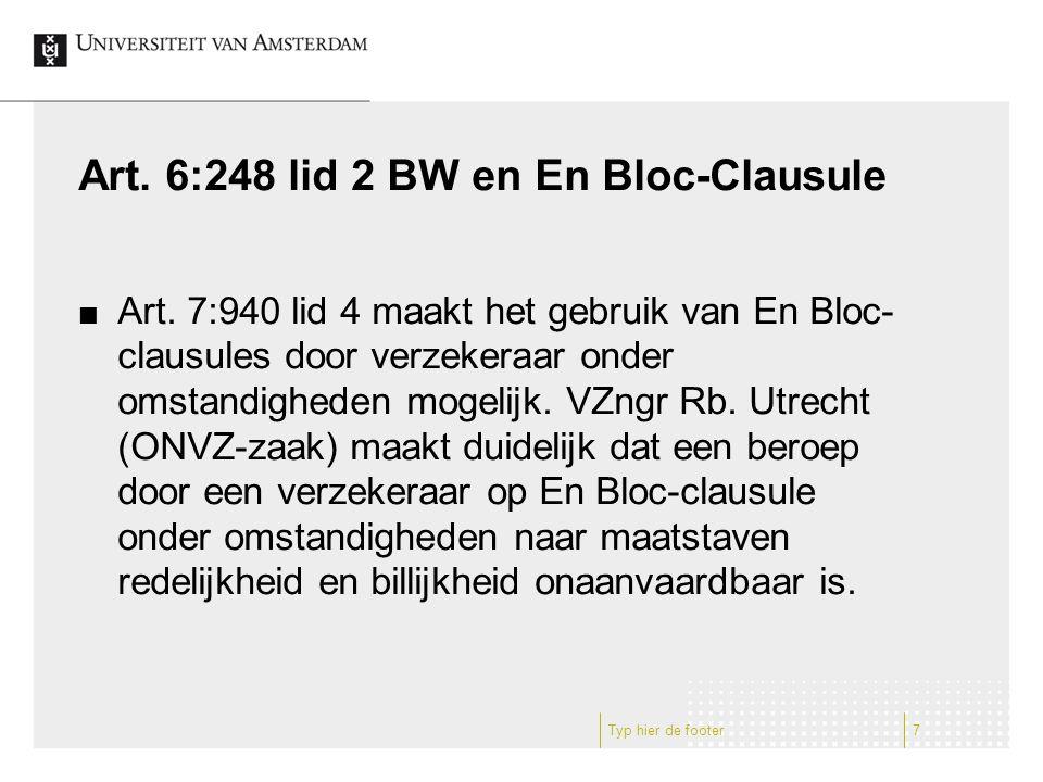 Art. 6:248 lid 2 BW en En Bloc-Clausule