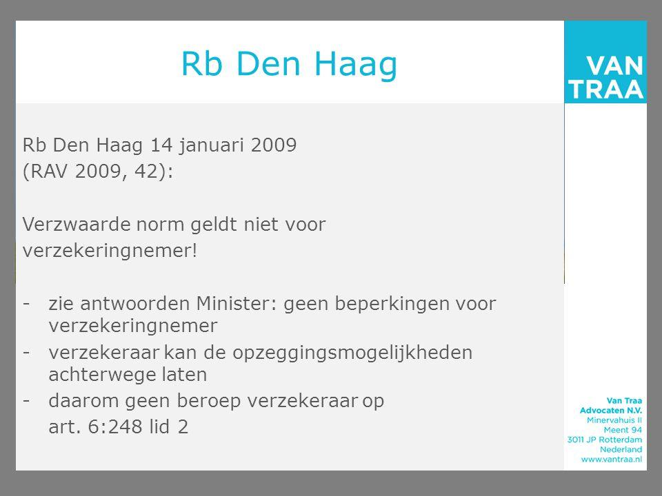 Rb Den Haag Rb Den Haag 14 januari 2009 (RAV 2009, 42):