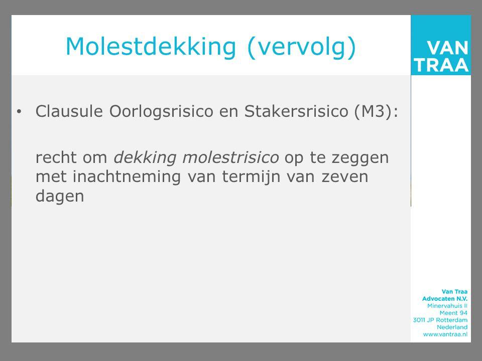Molestdekking (vervolg)