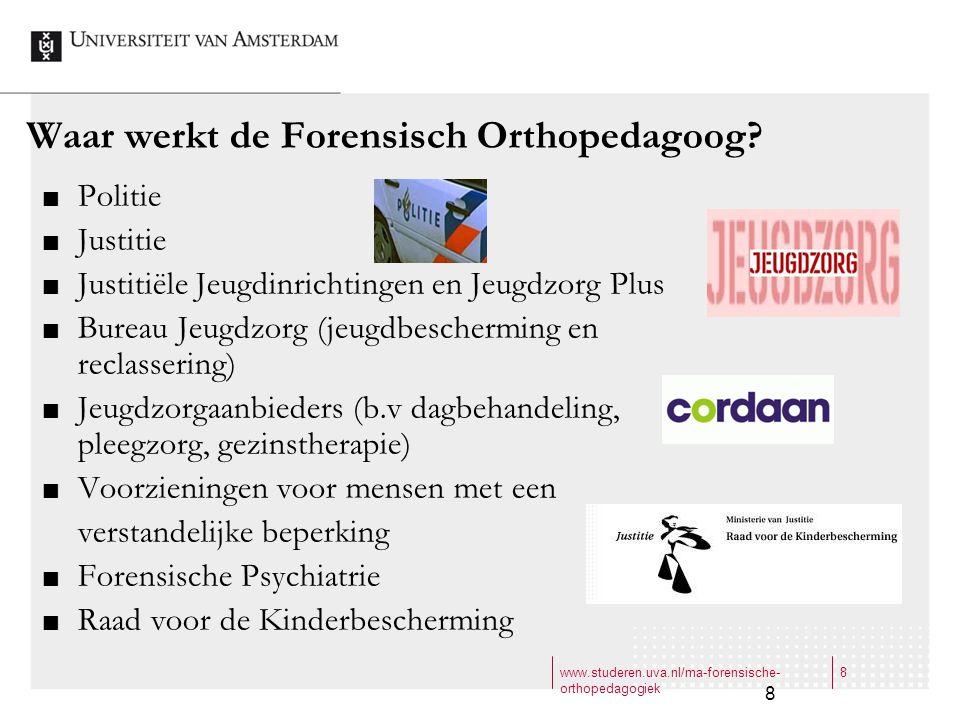 Waar werkt de Forensisch Orthopedagoog