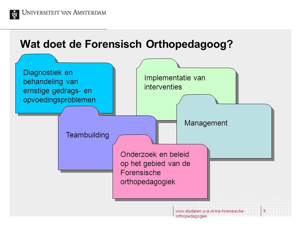 Wat doet de Forensisch Orthopedagoog