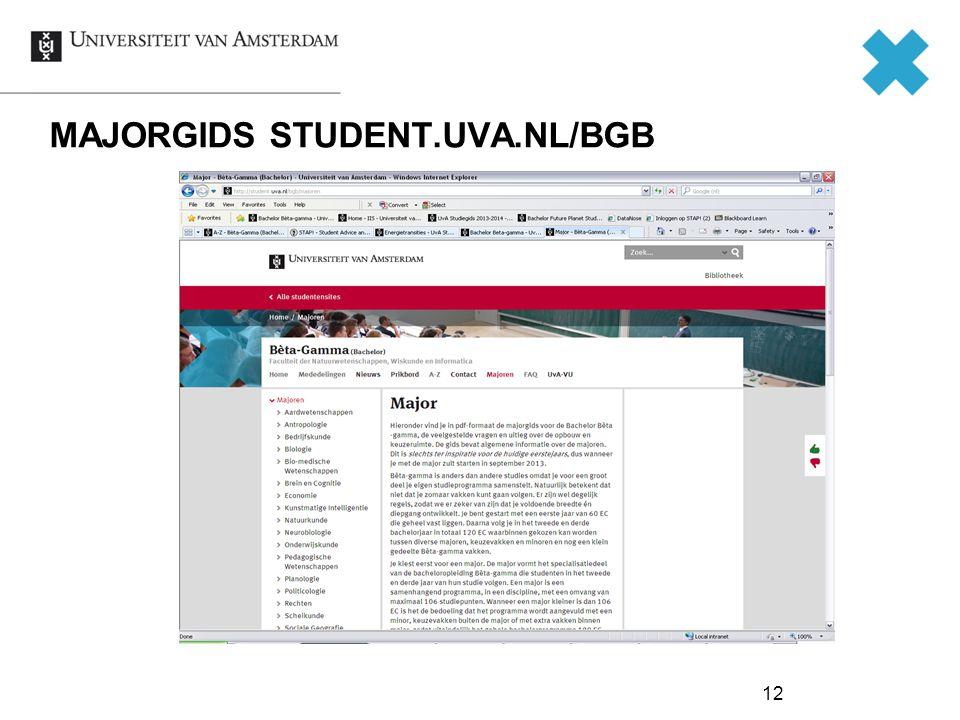 MAJORGIDS STUDENT.UVA.NL/BGB