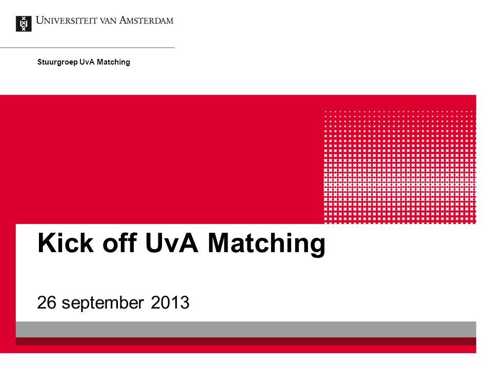 Stuurgroep UvA Matching