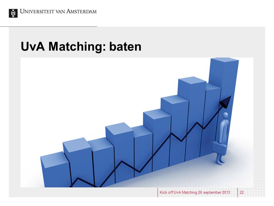 UvA Matching: baten Kick off UvA Matching 26 september 2013