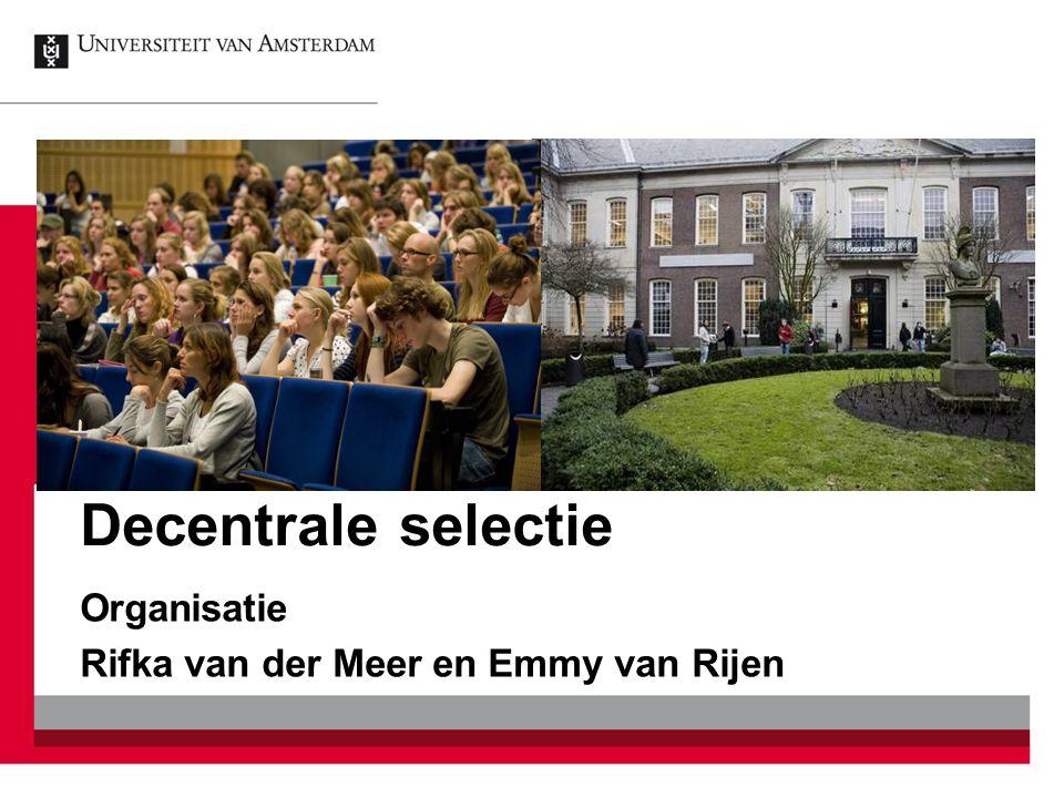 Organisatie Rifka van der Meer en Emmy van Rijen