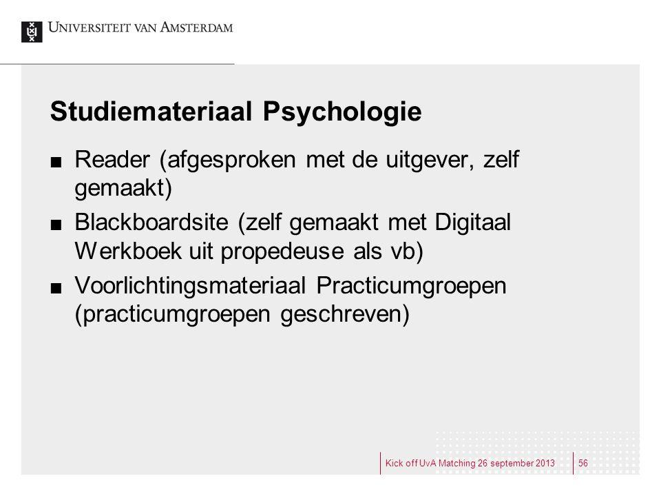 Studiemateriaal Psychologie