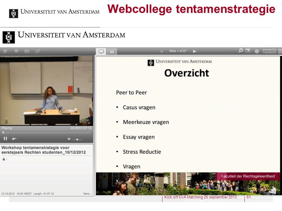 Webcollege tentamenstrategie