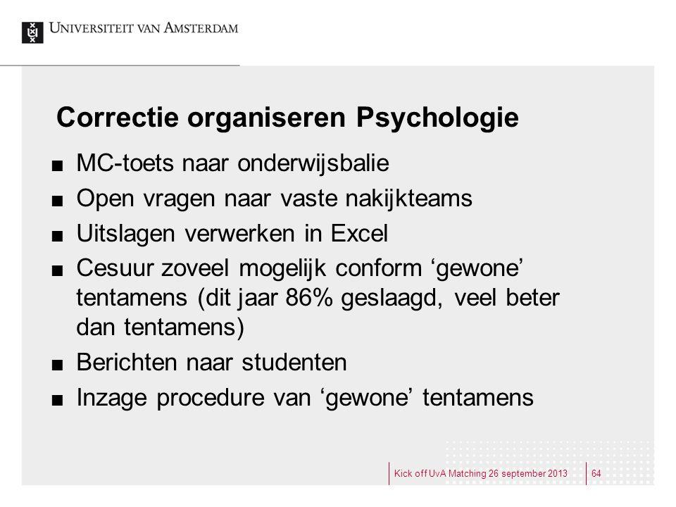 Correctie organiseren Psychologie