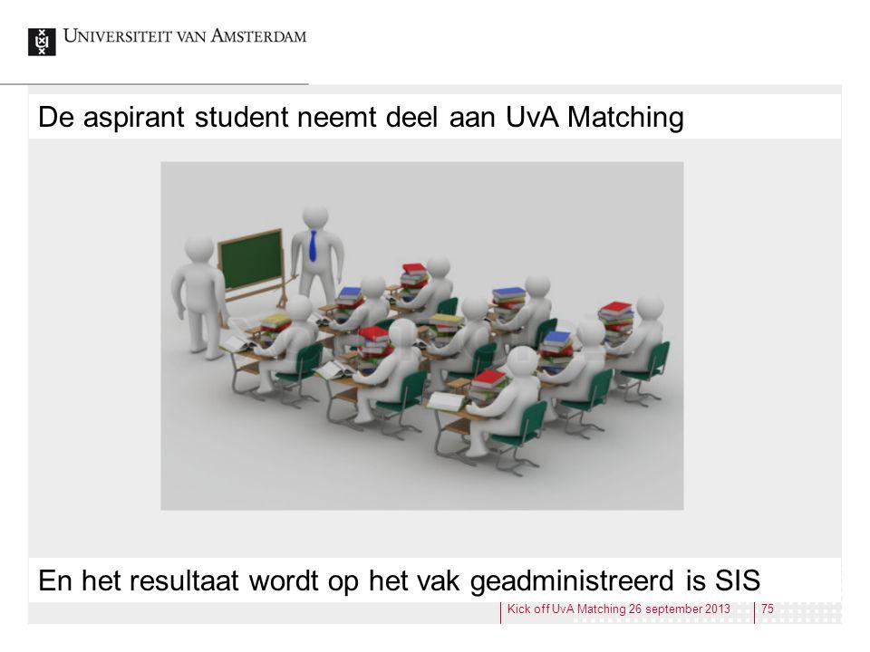 De aspirant student neemt deel aan UvA Matching