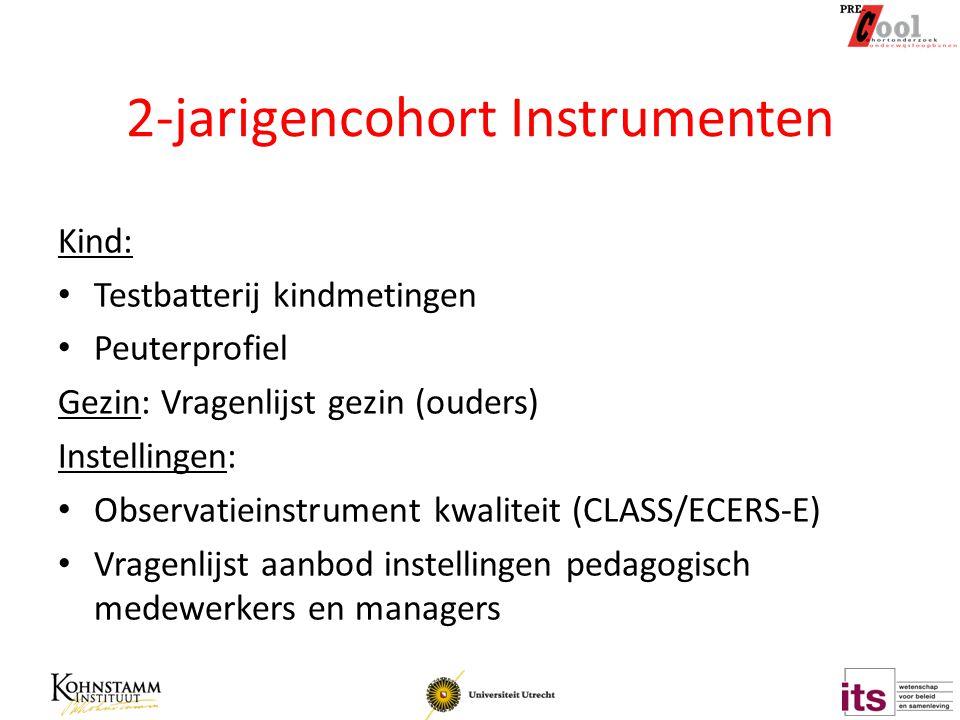 2-jarigencohort Instrumenten