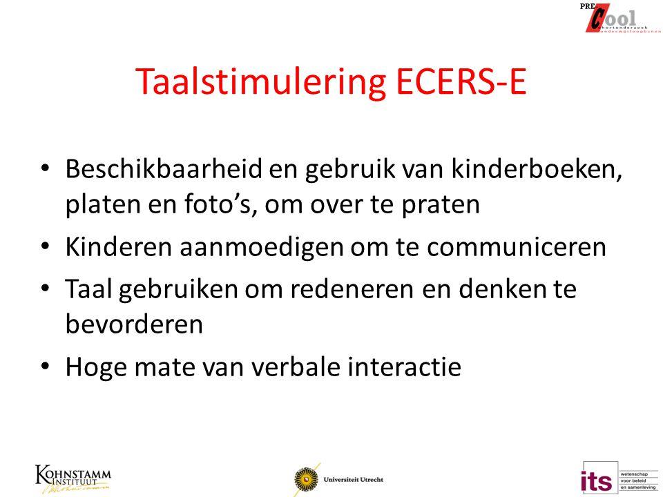 Taalstimulering ECERS-E