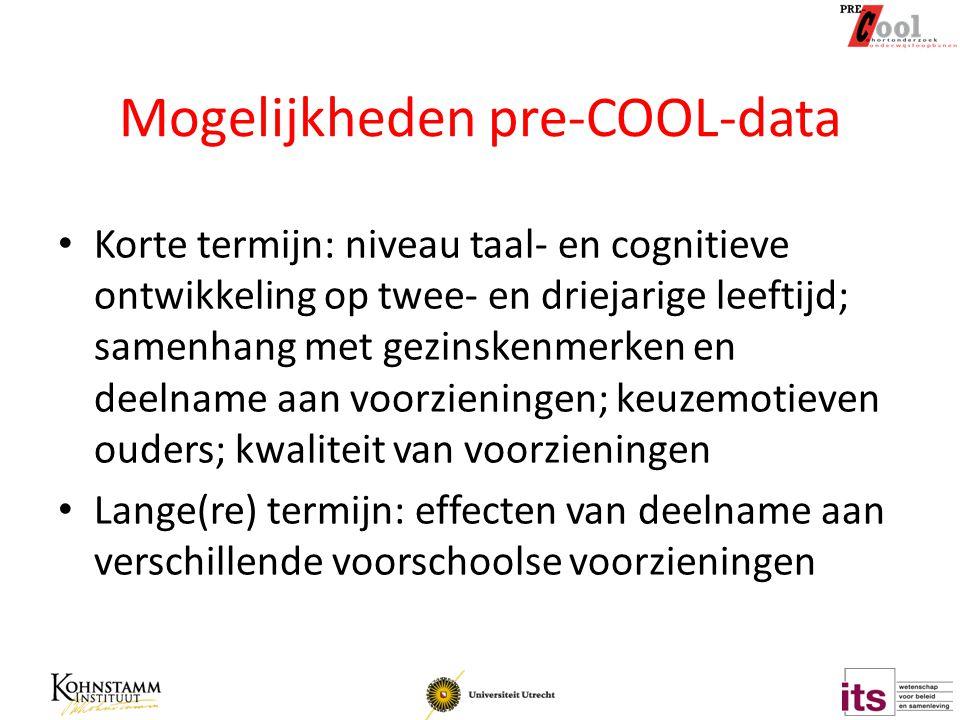 Mogelijkheden pre-COOL-data