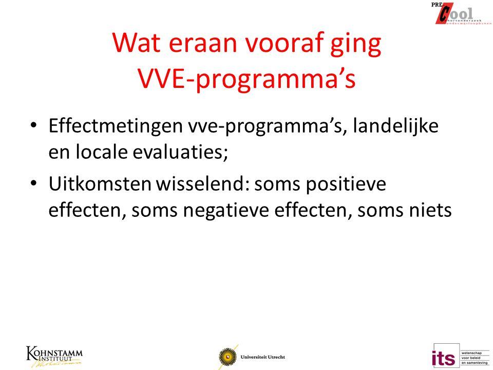 Wat eraan vooraf ging VVE-programma's