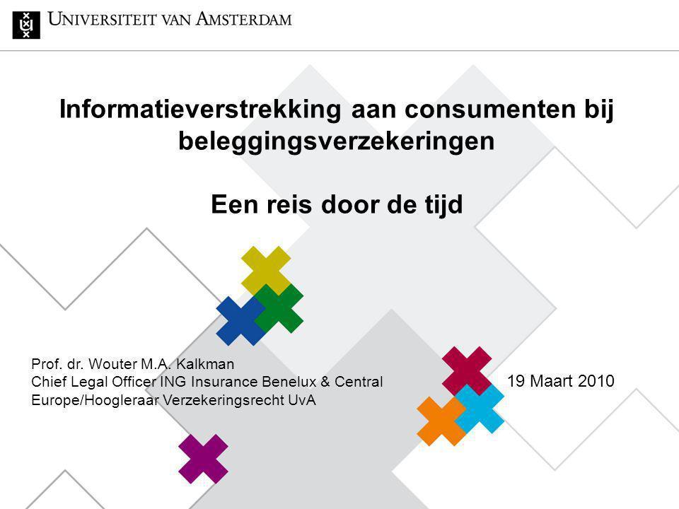 Informatieverstrekking aan consumenten bij beleggingsverzekeringen