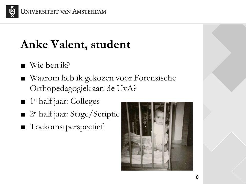 Anke Valent, student Wie ben ik