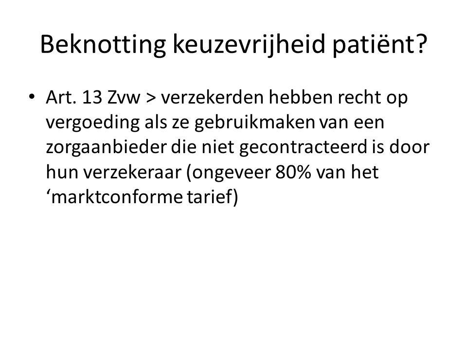Beknotting keuzevrijheid patiënt