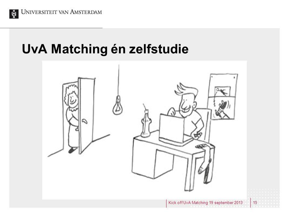 UvA Matching én zelfstudie