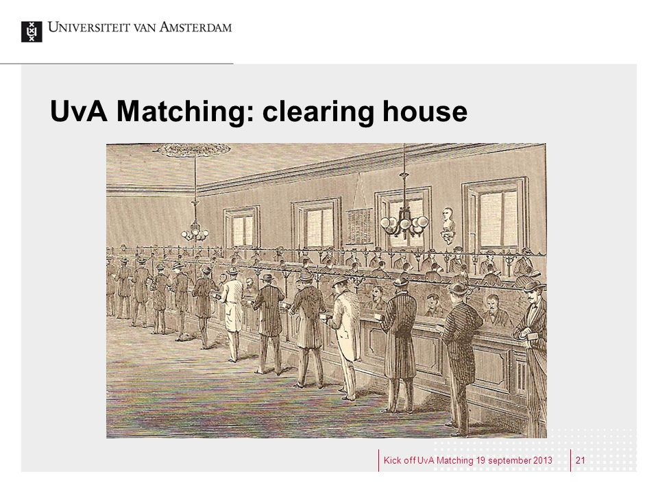 UvA Matching: clearing house