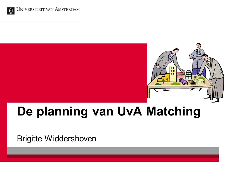 De planning van UvA Matching