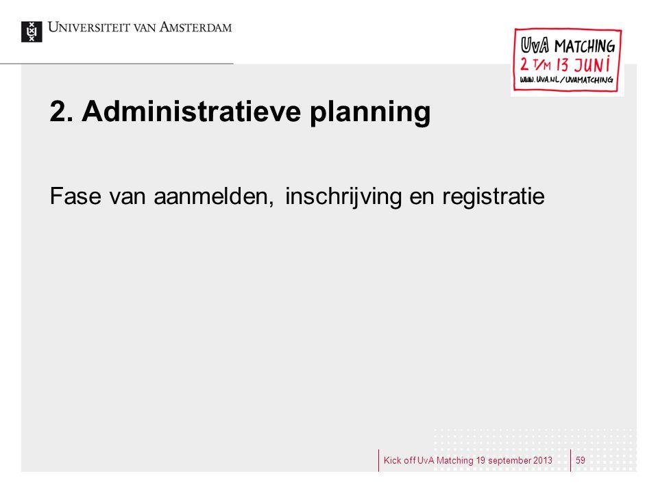 2. Administratieve planning