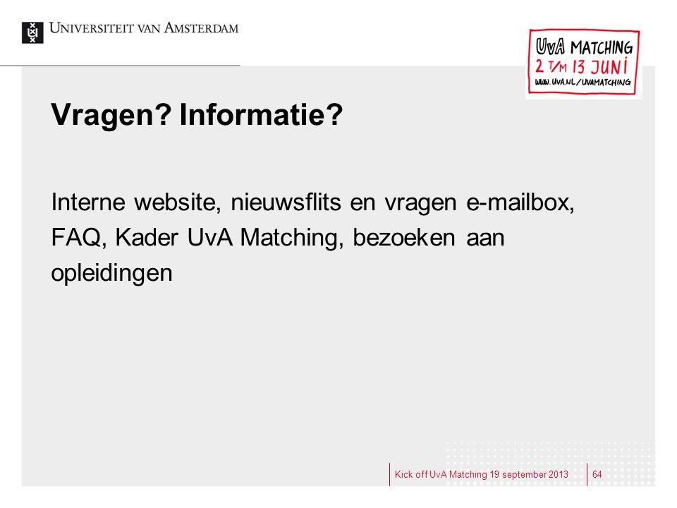 Vragen Informatie Interne website, nieuwsflits en vragen e-mailbox,