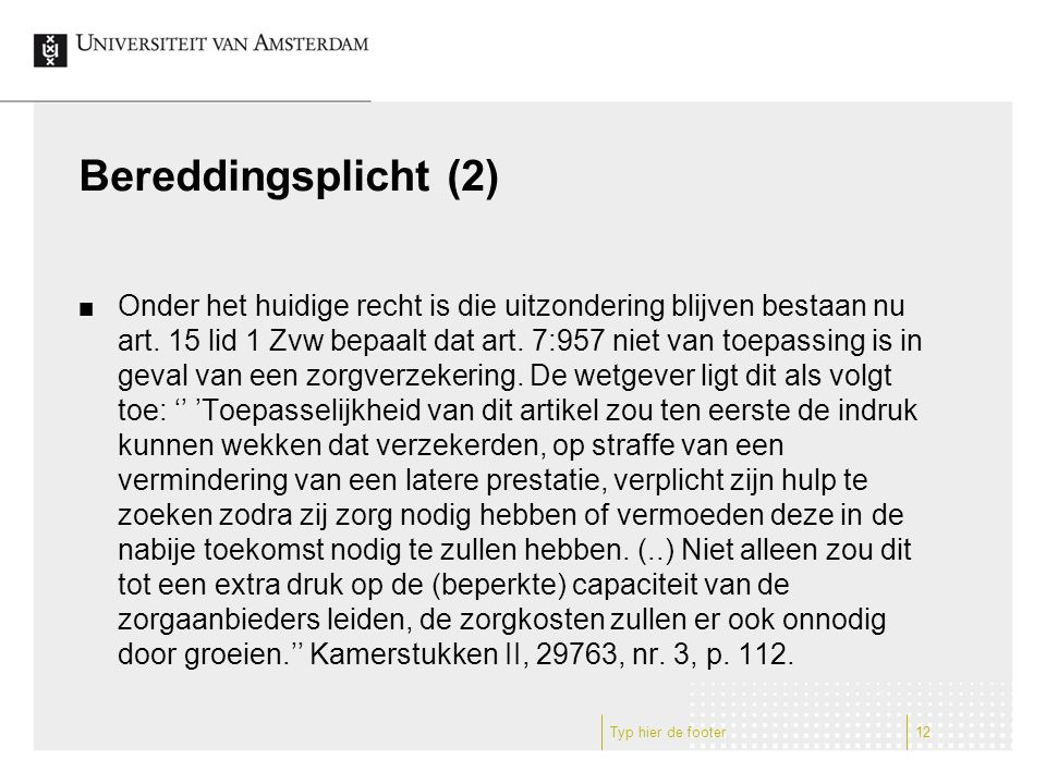 Bereddingsplicht (2)