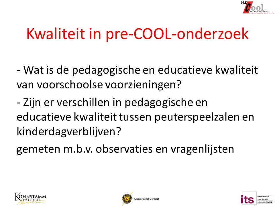 Kwaliteit in pre-COOL-onderzoek