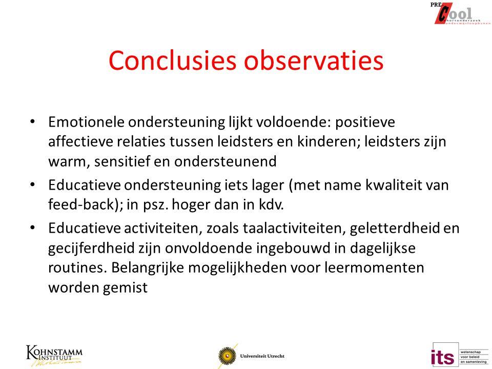 Conclusies observaties