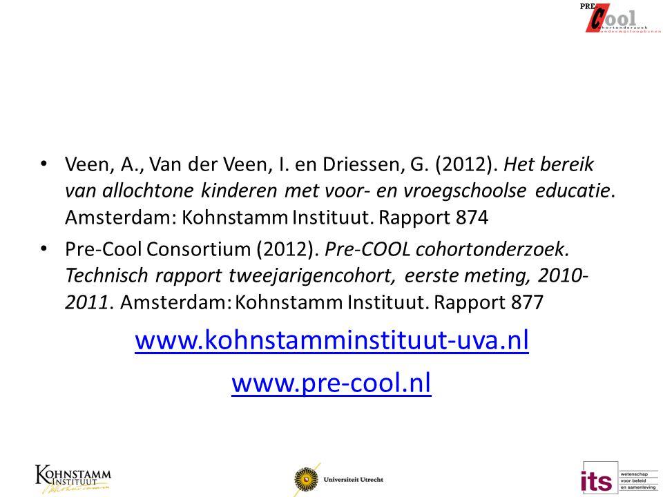 www.kohnstamminstituut-uva.nl www.pre-cool.nl