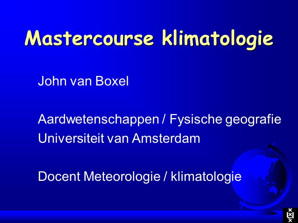 Mastercourse klimatologie