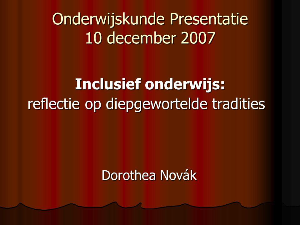 Onderwijskunde Presentatie 10 december 2007